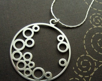 going circles - sterling silver necklace