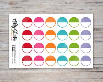Round Label Stickers | Planner Stickers | The Nifty Studio [155]