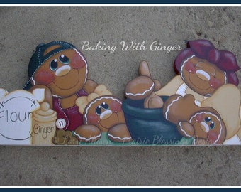 Baking With Ginger gingerbread painting pattern packet instant download