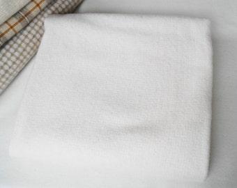 Petits carrés de crème - blanc - laine naturelle parfaite pour Rug Hooking, Applique et métiers quilting Acres