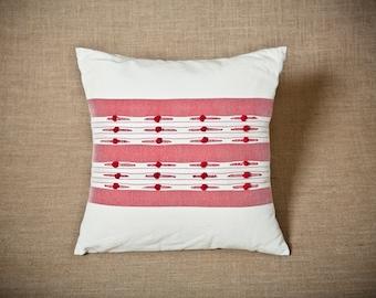 Royal Garment Series / Red - Handwoven cushion cover