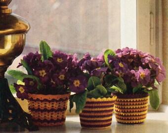 Crochet Pattern, Crochet Home Decor Pattern, Flowerpot Cover Pattern, Flower pot Gift for Gardener, INSTANT Download Pattern PDF (1023)