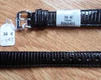 Wristwatch ZRC lizard black 14 mm