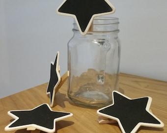 Mini Chalkboard Peg Clip - Star shape