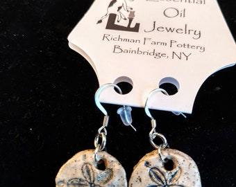 Essential Oil Sand Dollar Earrings