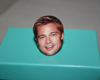 Brad Pitt Face Ring Celebrity Jewelry