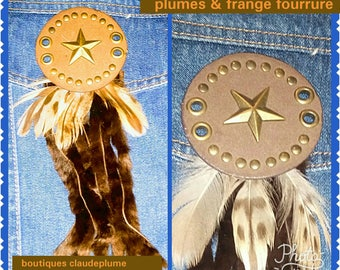 country custom applications fringe fur feathers