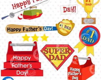 Father's day titles and embellishments,  Father's Day clipart, Invitation elements commercial use, AMB-908