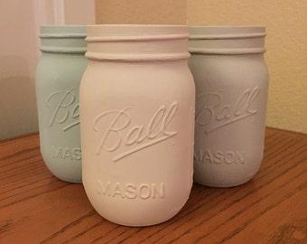 Hand Painted Mason Jars (Set of 3)
