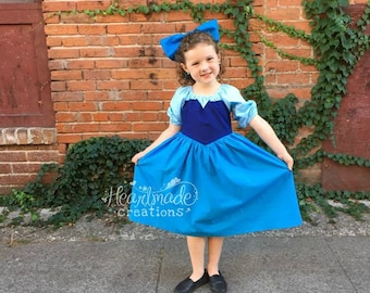 Ariel Kiss the Girl Dress - Everyday Princess Dress - Character Inspired Dress - Sizes 6/12 months to 8