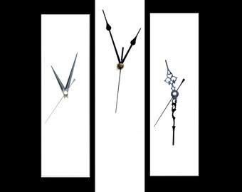 CLC Contemporary Slim Long Wall Clock WHITE 30cm or 40cm