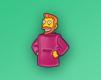 Simpsons Hank Scorpio Soft Enamel Pin 90s Gifts