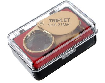 30 X 21mm Gold Jeweler Loupe Magnifying Eye Glass Magnifier ********** FAST SHIPPING *********