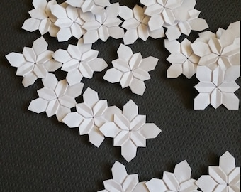 Handmade Origami Flower - White Paper Hydrangea Flower - great for weddings, place cards, invitations, party decorations and more