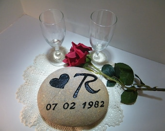 Motivational Stone/ Anniversary Stone/ Engraved Stone/ Anniversary Personalized Stone