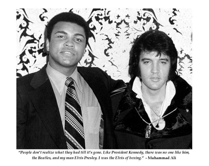 "Muhammad Ali Boxing Legend Famous Elvis Presley Quote ""I Was the Elvis of Boxing"" - 8X10 or 11X14 Photo (PQ-014)"