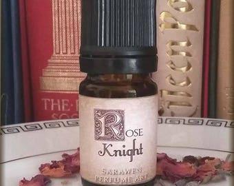 THE ROSE KNIGHT fantasy knight Perfume Oil / Dragon fantasy age inspired Perfume Oil / Leather Rose scent / Vegan Cologne