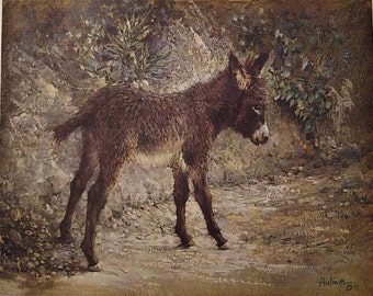 "Clark Hulings ""Elizabeth's Burro"" Limited Edition Archival Print"