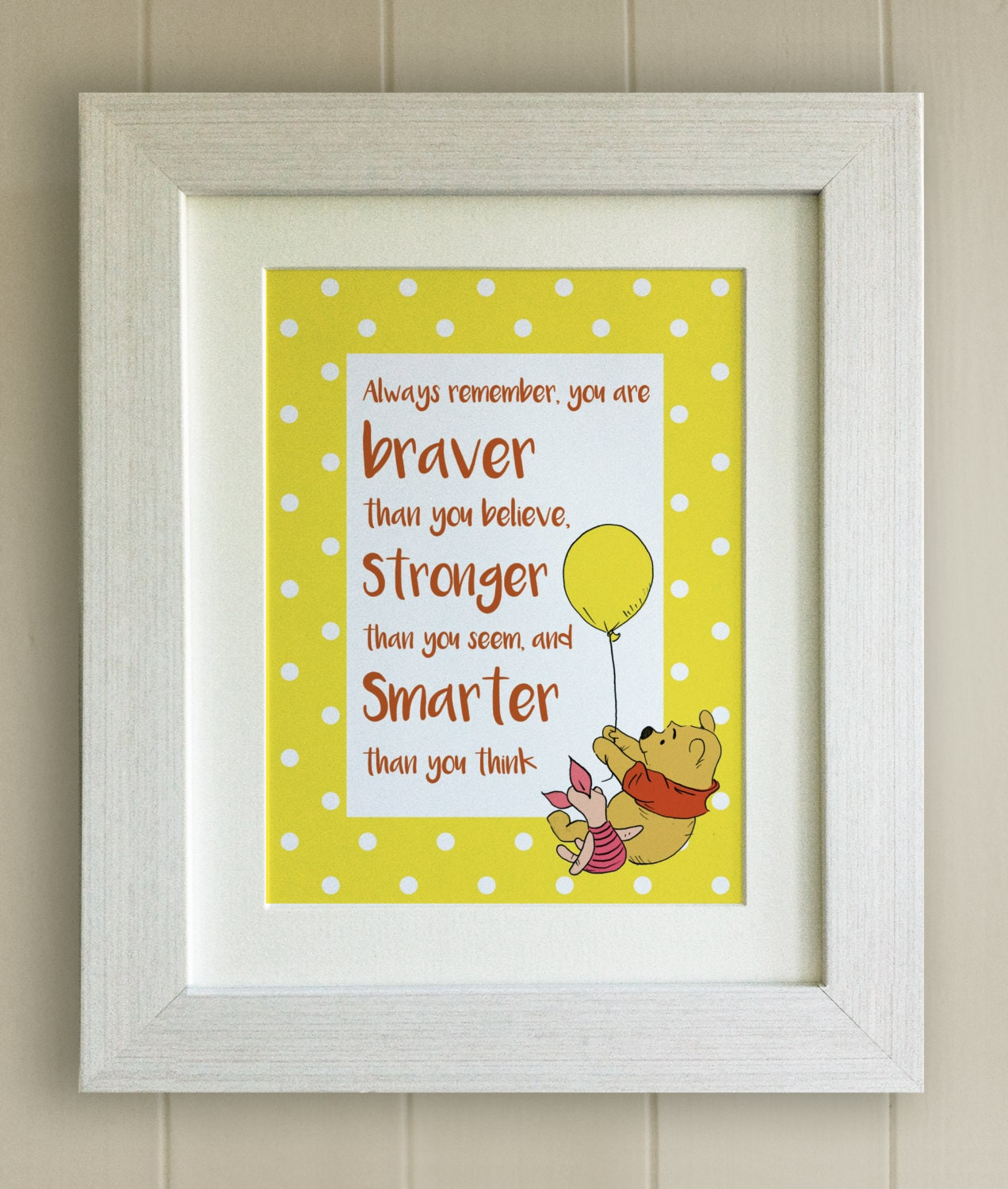 Winnie the Pooh QUOTE PRINT New Baby/Birth Nursery Picture
