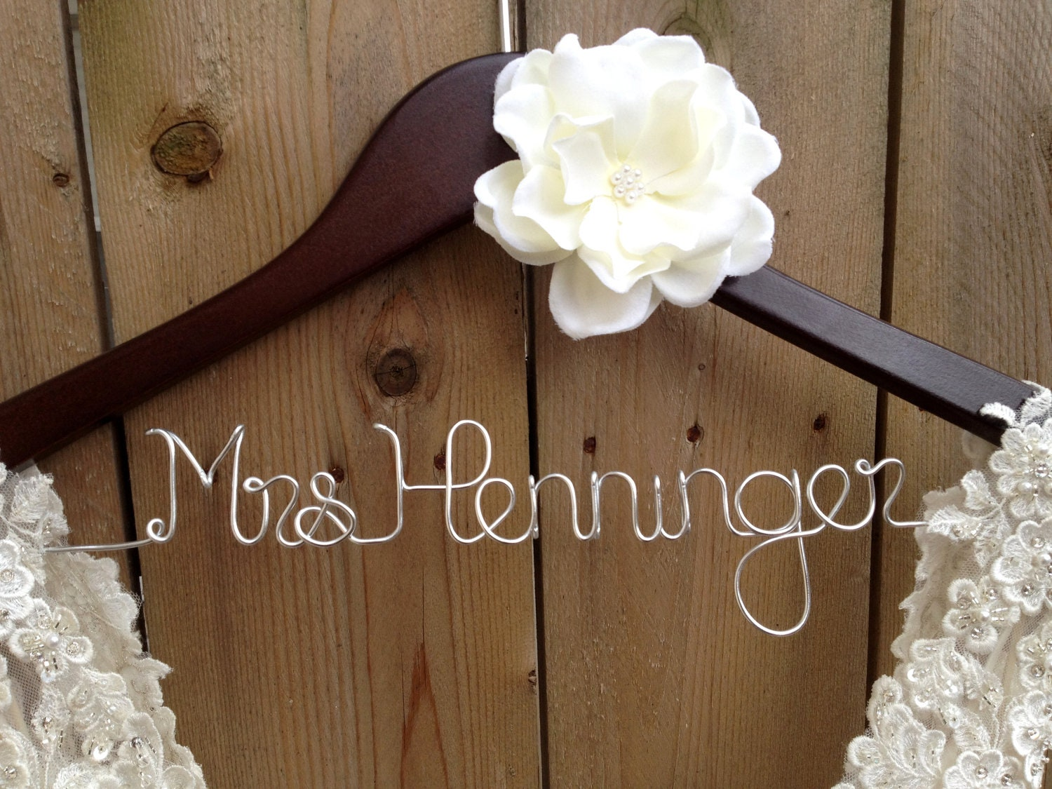 Custom Bride Hanger Wedding Dress Hanger Bridal Shower Gift