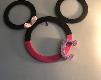 Minnie Mouse wreath:photo prop