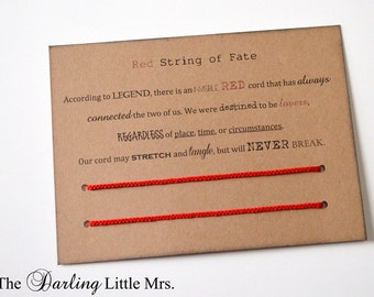 Red String of Fate Bracelets