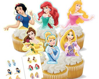 Instant Download Princess Cupcake Toppers Digital File