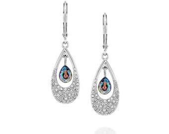 Pomegranate Earrings - Swarovski Paradise Shine
