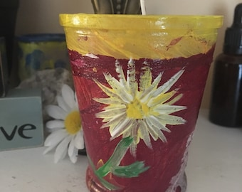 Citiris Scented Essential oil soy candle hand painted