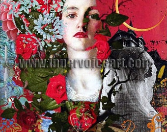 Treacherous Twilight ~ Life's Daughter becomes Death's Bride ~ Original Design, Digital Collge Art Card
