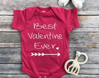 Best Valentine Ever, Valentine Day shirt, baby girl, arrow, Toddler Valentine Shirt, baby girl clothes, toddler girl clothes, new baby, gift