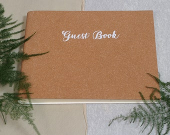 Recycled Leather Wedding Guest Book