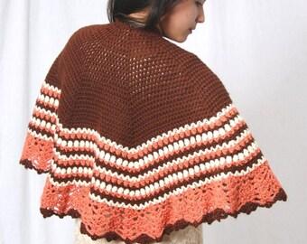 Ready to ship, crochet shawl, crochet poncho, crochet cape, triangle shawl,Womens shawl, Womens wrap, Shawl