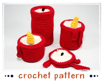 Candles - Crochet Pattern - Amigurumi - PDF