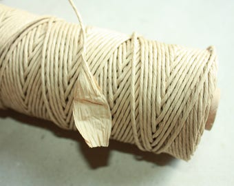 Cardboard Paper Cord = 1 Spool= 70 Yards= 64 Meters for Christmas Decorations Wedding Decoration Gift Wrapping Cord Kraft Paper Macrame Cord