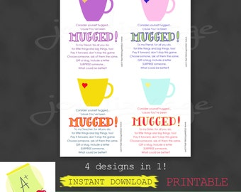 MUGGED send a smile campaign - Instant Download