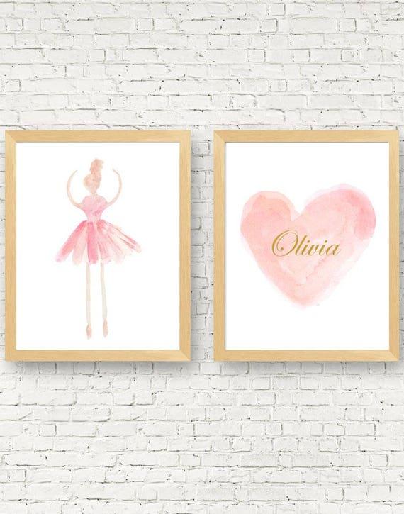 Ballerina Gift, Set of 2-11x14 Dance Prints