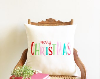 Merry Christmas pillow cover, farmhouse Christmas pillow cover, Christmas decor, farmhouse Christmas, holiday pillow under 50, holiday decor