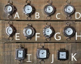 Assorted Silver Watch Faces for Interchangeable Watch Bracelet
