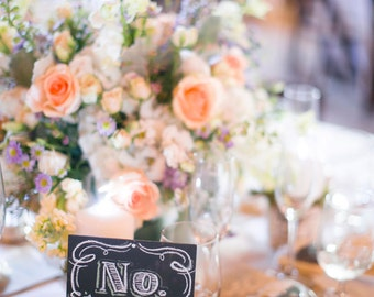 Table Number Chalkboard for Weddings & Events