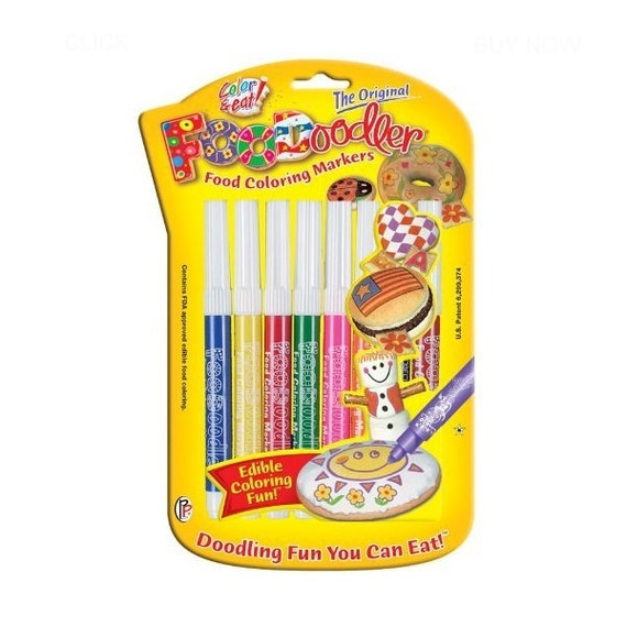 8 Food Coloring Markers, Pens; Edible Color Paint Markers; Edible ...
