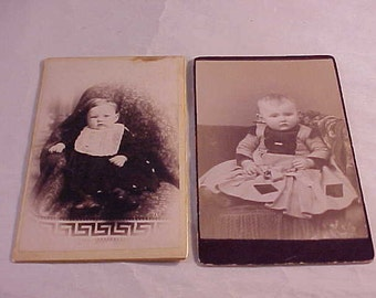 2 Vintage Baby Photographs