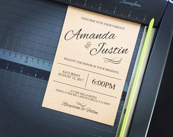 Instant Download, Printable Wedding Invitation and RSVP Template, Modern Wedding Invitation Set, Editable Invite and RSVP Card, Personalized