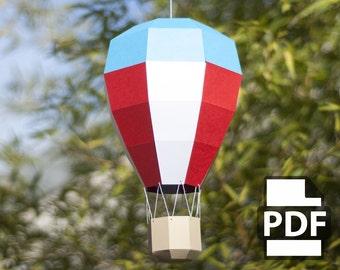 Balloon Mobilé - DIY Papercraft Kit (Instant Download)