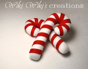 Felt Plush Candy Canes - Pack of 2
