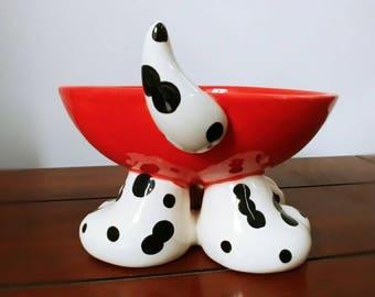 Custom Dog Bowl Personalised Pet Bowl Feedind Dish Custom Colours