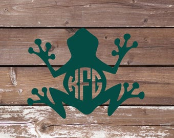 Frog Monogram Decal