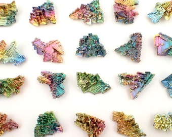 ONE Bismuth lab grown crystal - choose size / 13-33mm - rainbow stones element metal stone