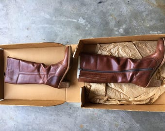 Dexter leather boots vintage brown leather 10N late 1970's or early 80's