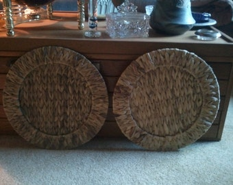 2-Sea Grass Woven Plate Charger...Ships Free!